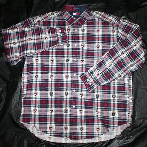Tommy Hilfiger Men/'s Long Sleeve New York Fit Plaid Casual Shirt $0 Free Ship